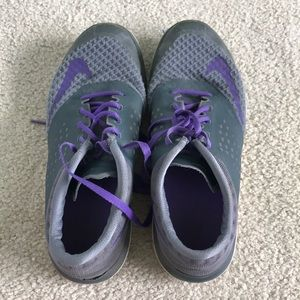 Purple and Grey Nike Running Shoes